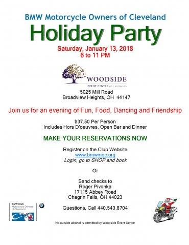 BMWMOC Holiday Party January 13, 2018