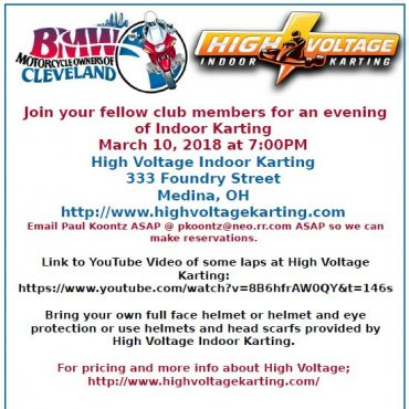 High Voltage Kart Event, March 10